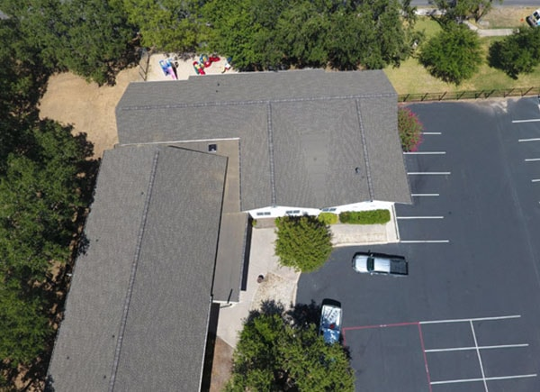 Roofing project completed in Central Texas