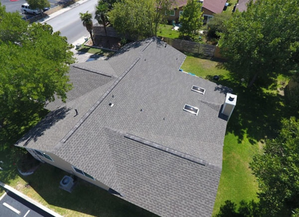 New shingles on a roof of a house in Central Texas